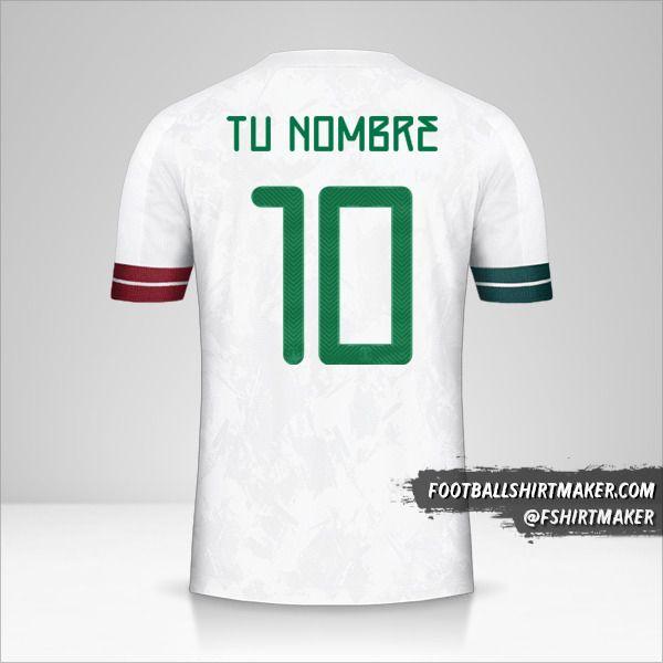 Camiseta Mexico 2020 II número 10 tu nombre