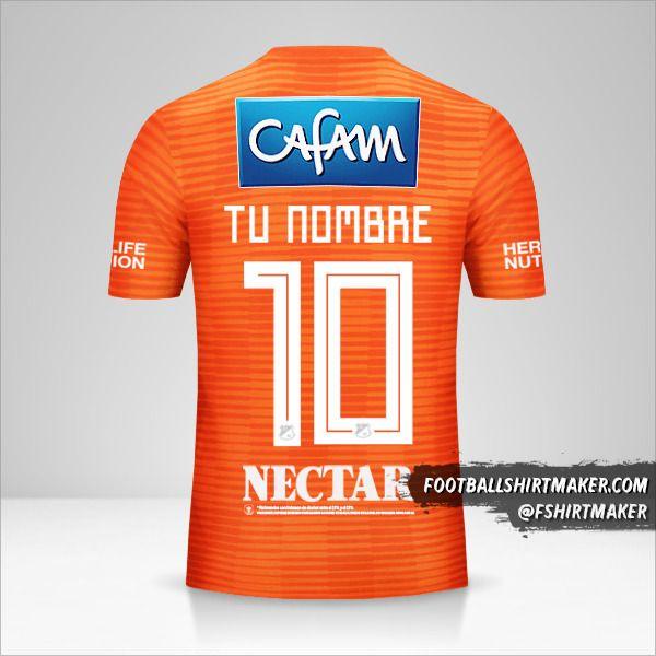 Camiseta Millonarios FC 2018 III número 10 tu nombre