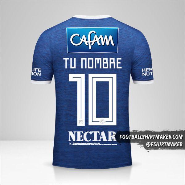 Camiseta Millonarios FC 2018 número 10 tu nombre