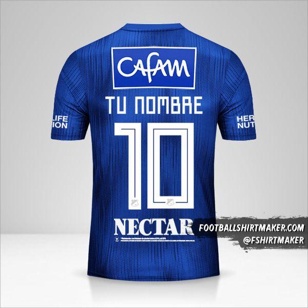 Camiseta Millonarios FC 2019 número 10 tu nombre