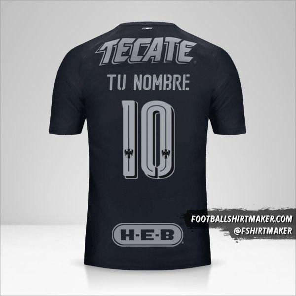 Camiseta Monterrey 2017/18 II número 10 tu nombre