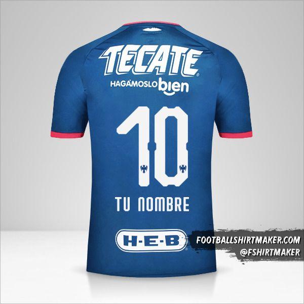 Camiseta Monterrey 2018/19 II número 10 tu nombre