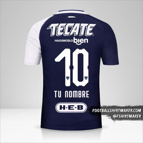 Camiseta Monterrey 2018/19 III número 10 tu nombre