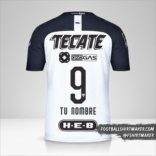 Camiseta Monterrey 2019/20 II número 9 tu nombre