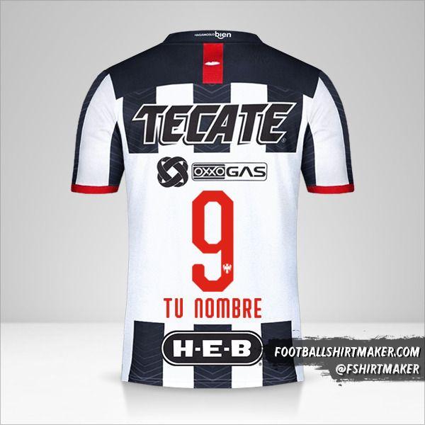 Camiseta Monterrey 2019/20 número 9 tu nombre