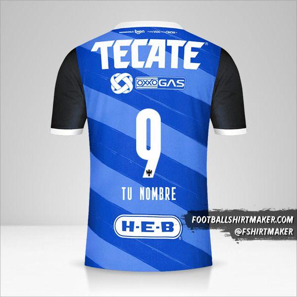 Camiseta Monterrey 2020/21 II número 9 tu nombre