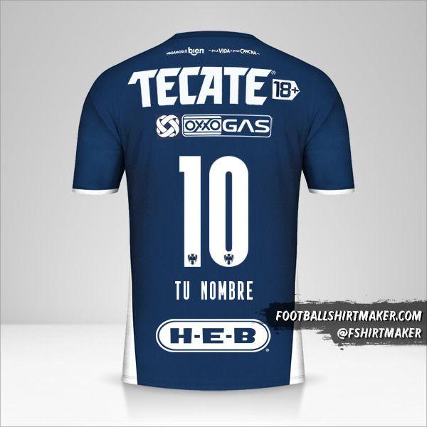 Camiseta Monterrey 2021/2022 número 10 tu nombre