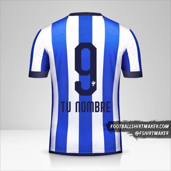 Camiseta Monterrey Mundial de Clubes 2019 número 9 tu nombre