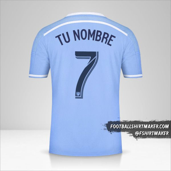 Camiseta New York City FC 2015/16 número 7 tu nombre