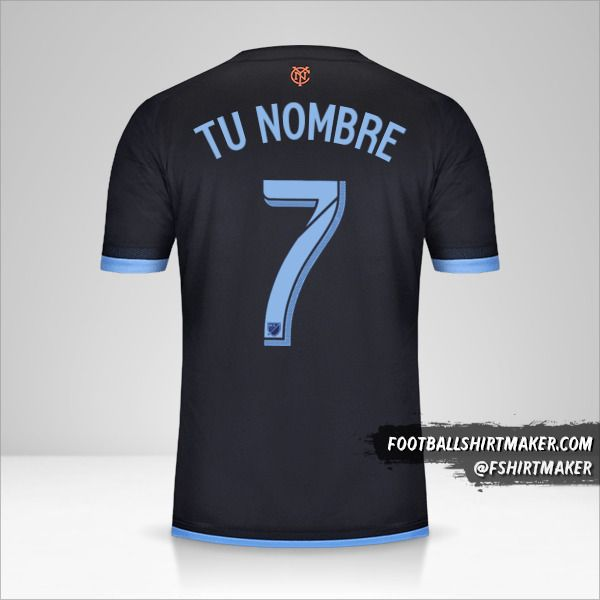 Camiseta New York City FC 2015 II número 7 tu nombre