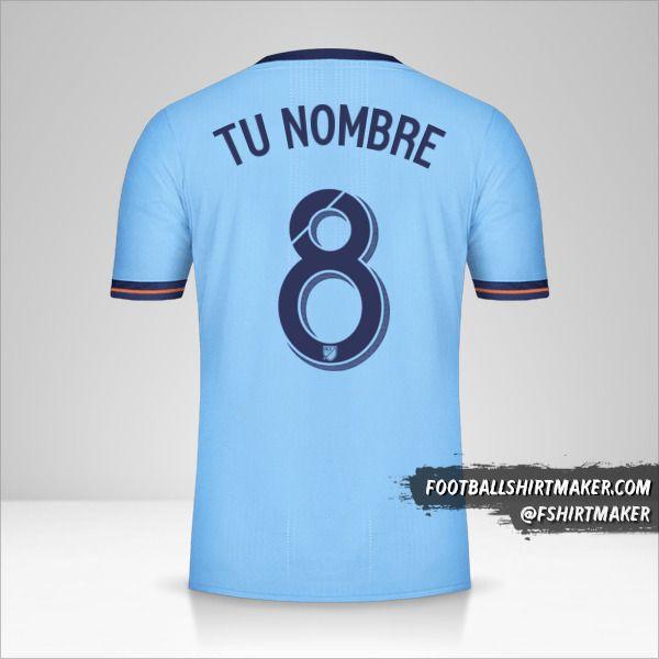 Camiseta New York City FC 2017/18 número 8 tu nombre