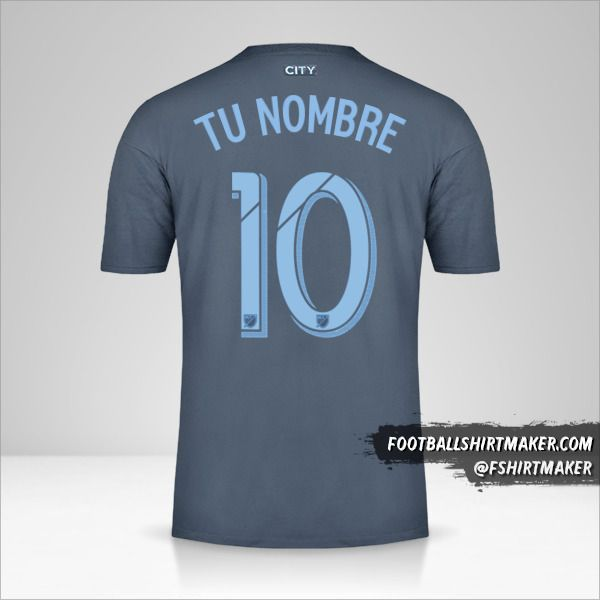 Camiseta New York City FC 2018/19 II número 10 tu nombre