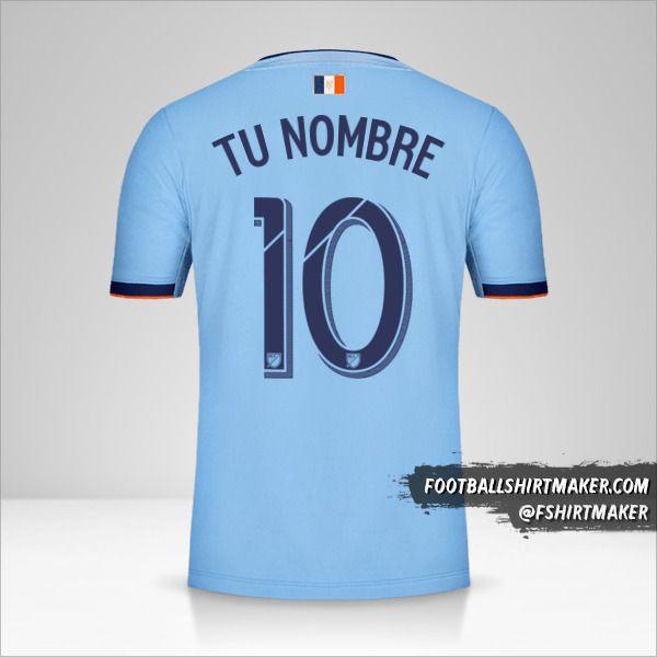 Camiseta New York City FC 2019 número 10 tu nombre