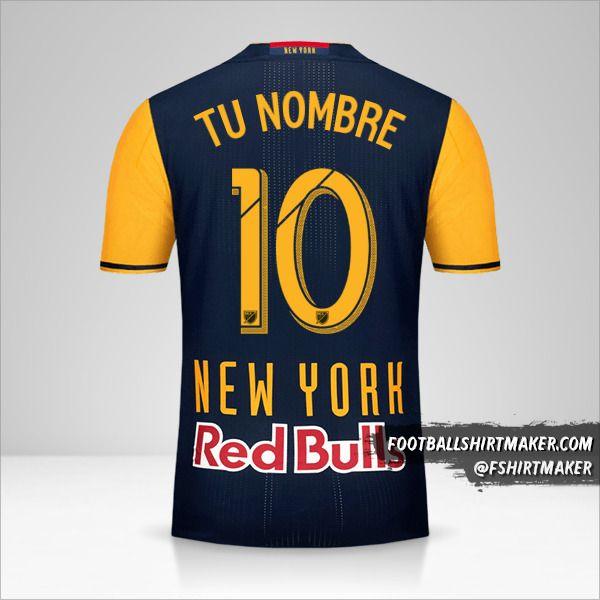 Camiseta New York Red Bulls 2016/17 II número 10 tu nombre