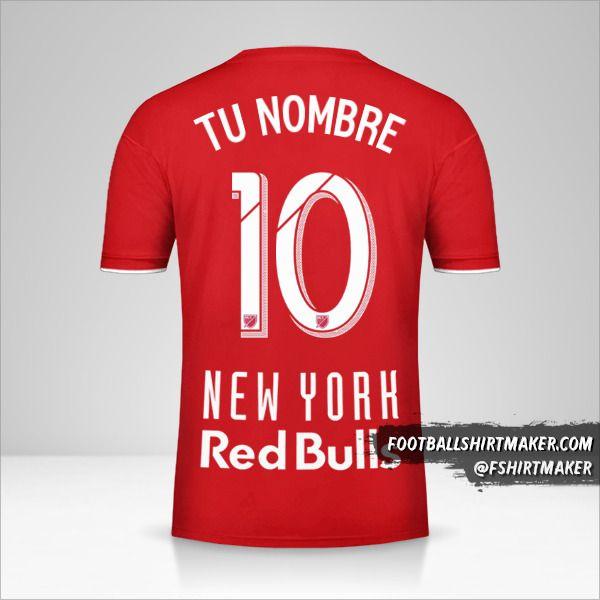 Camiseta New York Red Bulls 2019 número 10 tu nombre