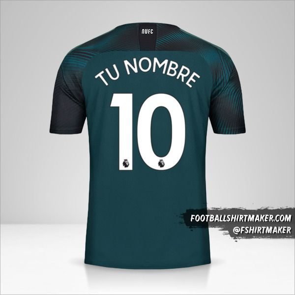 Camiseta Newcastle United FC 2019/20 II número 10 tu nombre