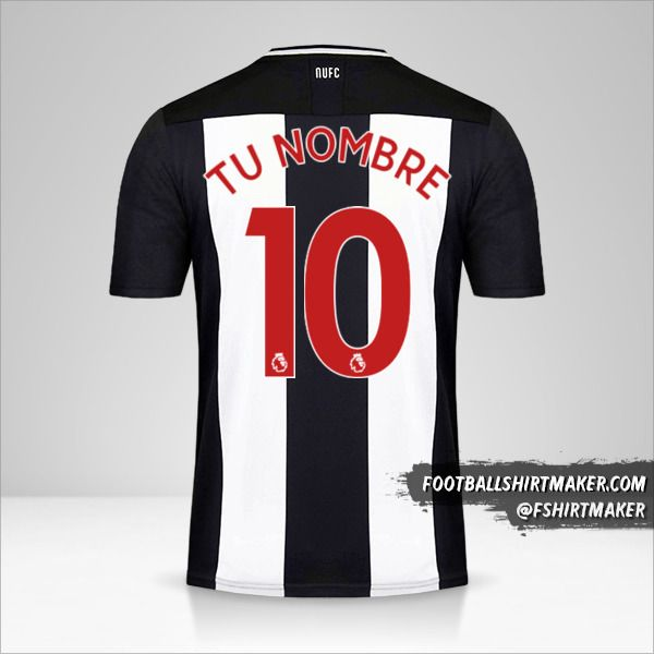 Camiseta Newcastle United FC 2019/20 número 10 tu nombre