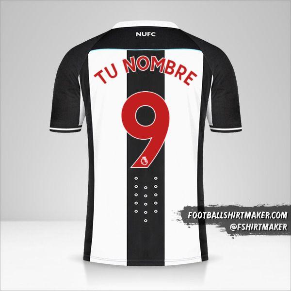 Camiseta Newcastle United FC 2021/2022 número 9 tu nombre