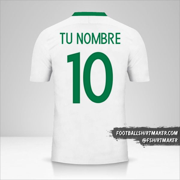 Camiseta Nigeria 2016/17 II número 10 tu nombre