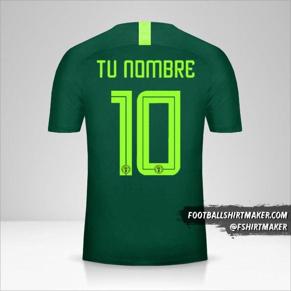 Camiseta Nigeria 2018 II número 10 tu nombre