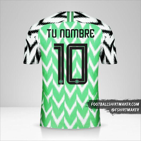 camiseta Nigeria 2018 número 10 tu nombre