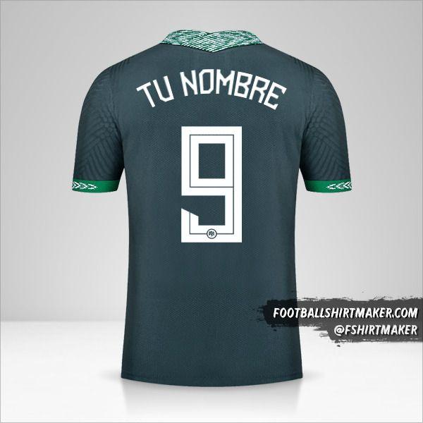 Camiseta Nigeria 2020/21 II número 9 tu nombre