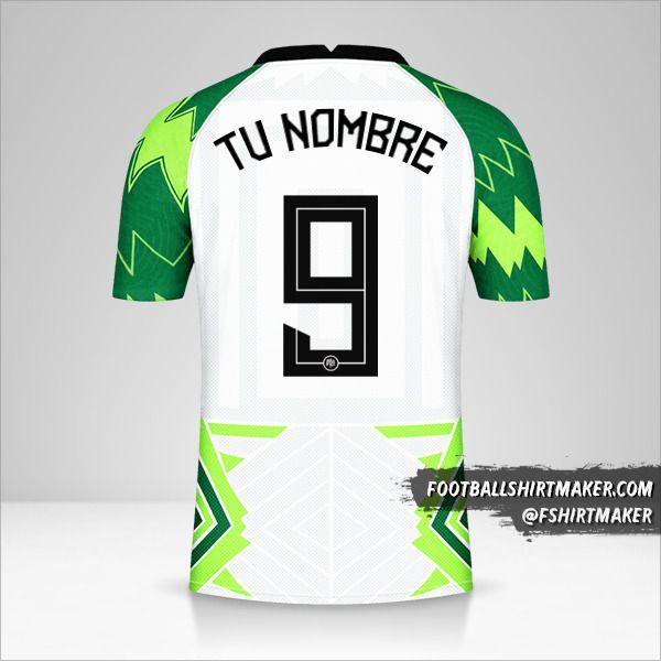 Camiseta Nigeria 2020/21 número 9 tu nombre