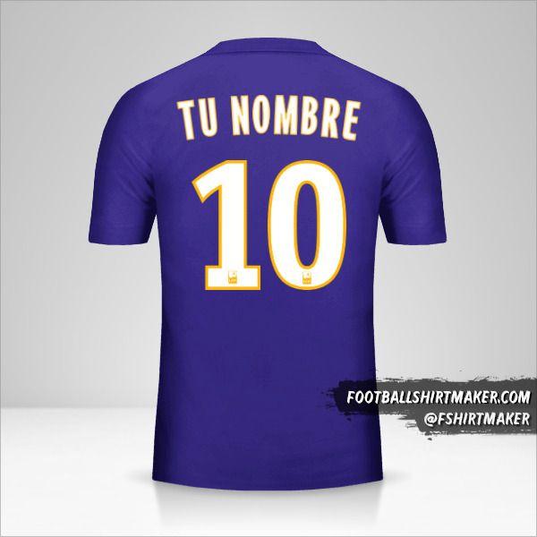 Camiseta Olympique de Marseille 2017/18 III número 10 tu nombre