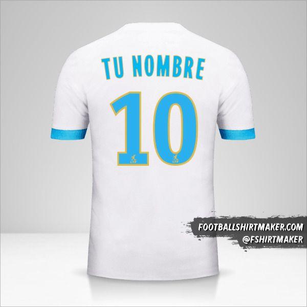 Camiseta Olympique de Marseille 2017/18 número 10 tu nombre