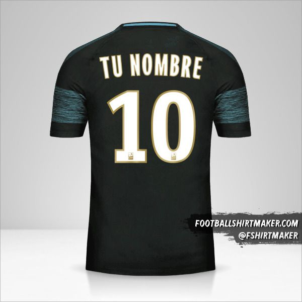 Camiseta Olympique de Marseille 2018/19 II número 10 tu nombre