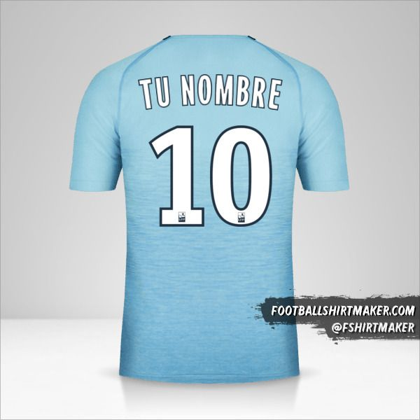Camiseta Olympique de Marseille 2018/19 III número 10 tu nombre