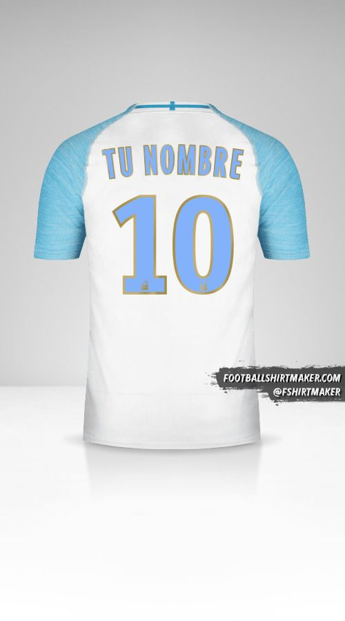 Camiseta Olympique de Marseille 2018/19 número 10 tu nombre