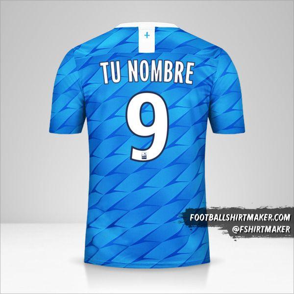 Camiseta Olympique de Marseille 2019/20 II número 9 tu nombre