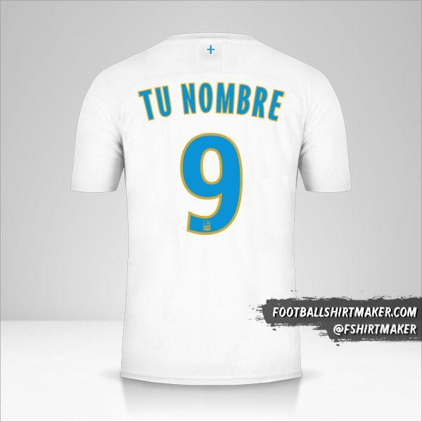 Camiseta Olympique de Marseille 2019/20 número 9 tu nombre