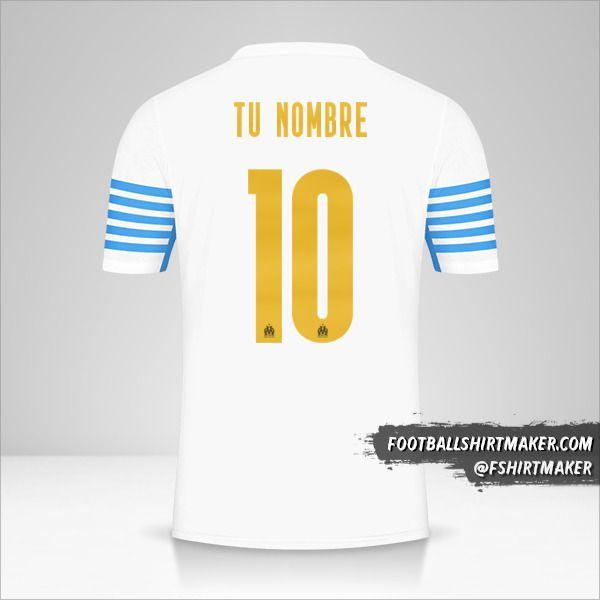 Camiseta Olympique de Marseille 2021/2022 Cup número 10 tu nombre
