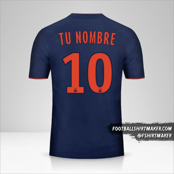Camiseta Olympique Lyon 2018/19 II número 10 tu nombre