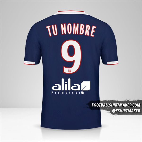 Camiseta Olympique Lyon 2019/20 II número 9 tu nombre