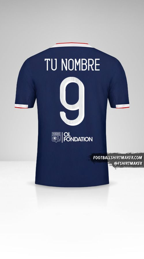 Camiseta Olympique Lyon 2019/20 Cup II número 9 tu nombre