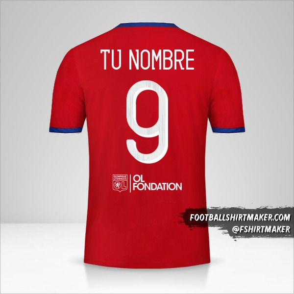Camiseta Olympique Lyon 2019/20 Cup III número 9 tu nombre