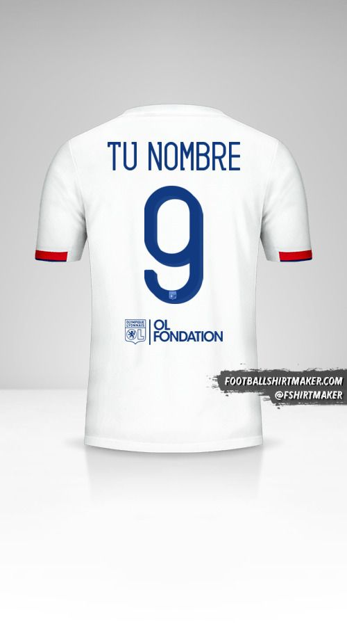 Camiseta Olympique Lyon 2019/20 Cup número 9 tu nombre