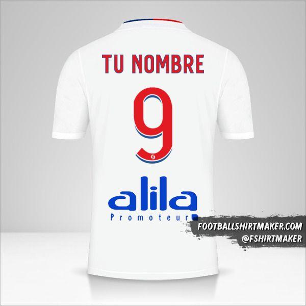 Camiseta Olympique Lyon 2021/2022 número 9 tu nombre