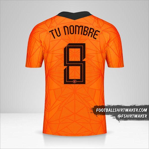 Camiseta Paises Bajos 2020/2021 número 8 tu nombre