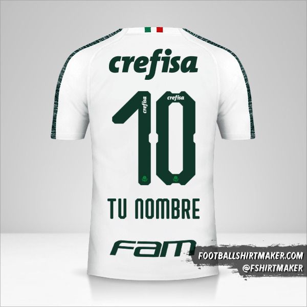Camiseta Palmeiras 2019 II número 10 tu nombre