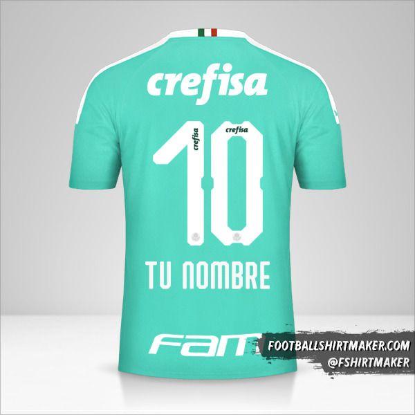 Camiseta Palmeiras 2019 III número 10 tu nombre