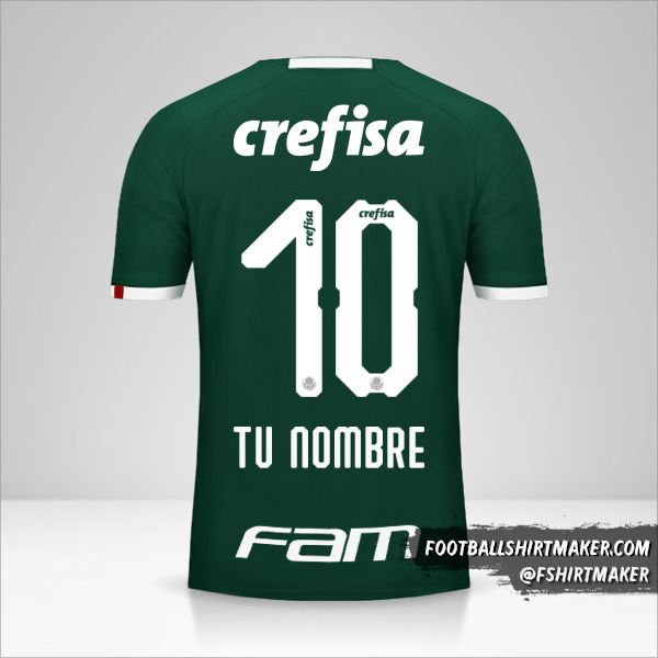 Camiseta Palmeiras 2019 número 10 tu nombre