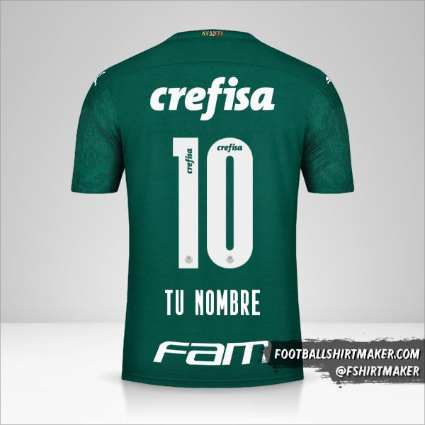 Camiseta Palmeiras 2020 número 10 tu nombre