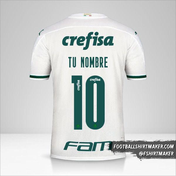 Camiseta Palmeiras Libertadores 2020 II número 10 tu nombre