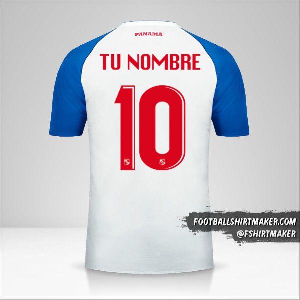 Camiseta Panama 2018 II número 10 tu nombre