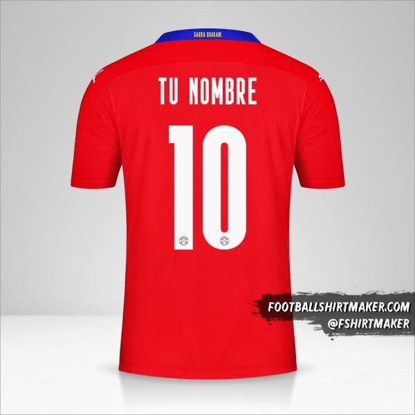 Camiseta Paraguay 2020/2021 número 10 tu nombre
