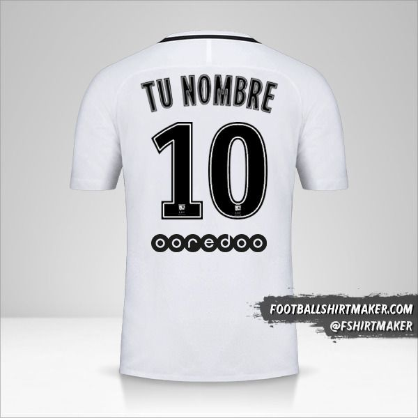 Camiseta Paris Saint Germain 2016/17 III número 10 tu nombre